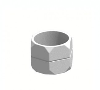 Цветочница, бетонный вазон Ц11