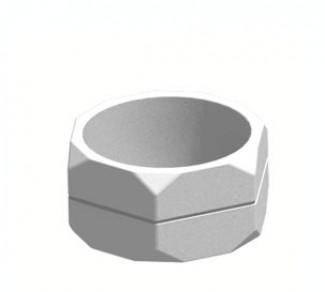 Цветочница, бетонный вазон Ц12