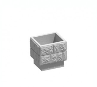 Цветочница, бетонный вазон Ц4-2