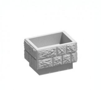 Цветочница, бетонный вазон Ц4-3