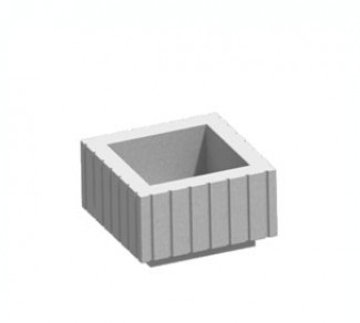 Цветочница, бетонный вазон Ц4Р