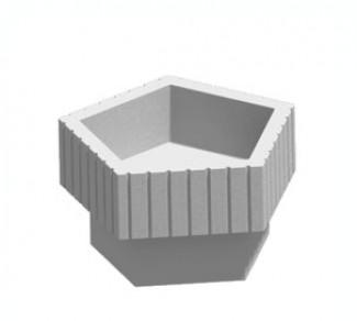 Цветочница, бетонный вазон Ц5