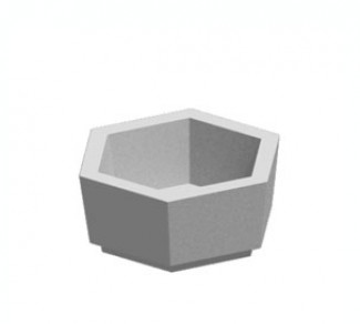 Цветочница, бетонный вазон Ц6-1