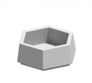 Цветочница, бетонный вазон Ц6-2