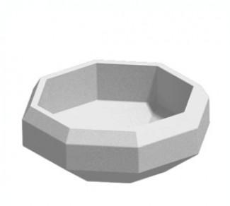 Цветочница, бетонный вазон Ц8